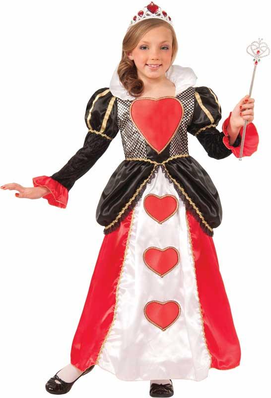 Girls Sweetheart Queen Storybook Fancy Dress Costume
