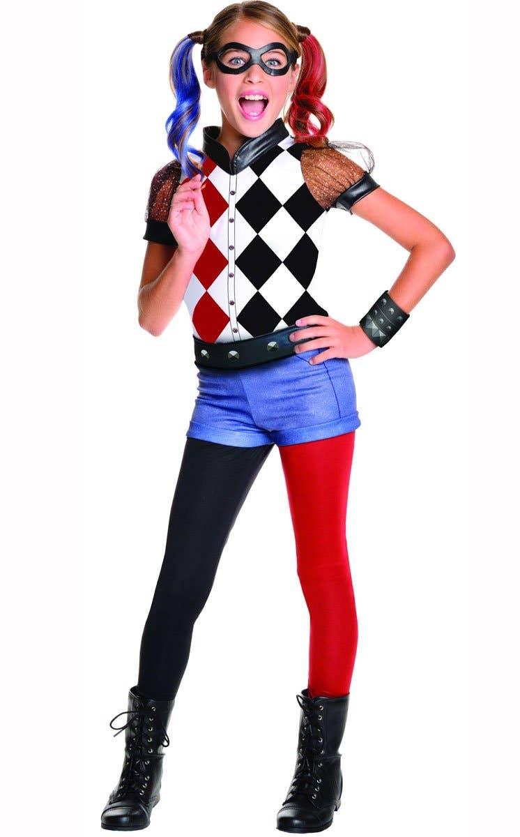 Shop DC Superhero Harley Quinn Girls Book Week Costume Online