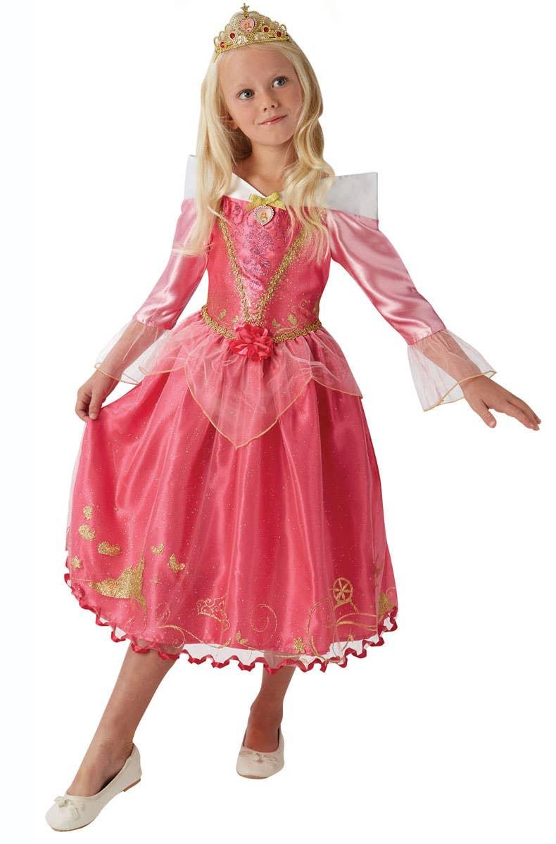 Girls Disney Sleeping Beauty Fancy Dress Costume