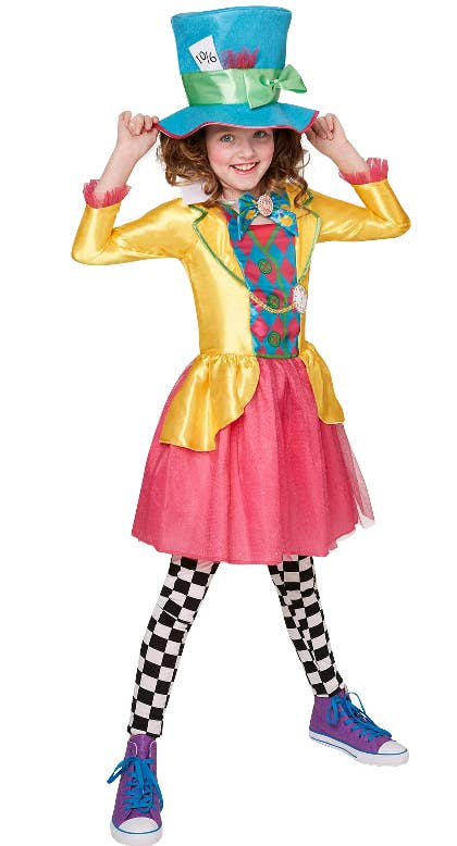 Girls Mad Hatter Teen Alice in Wonderland Costume