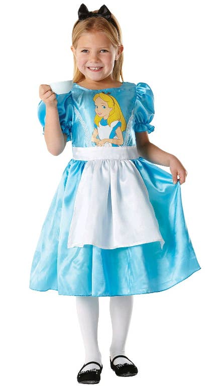 Disney Girls Alice in Wonderland Fancy Dress Costume