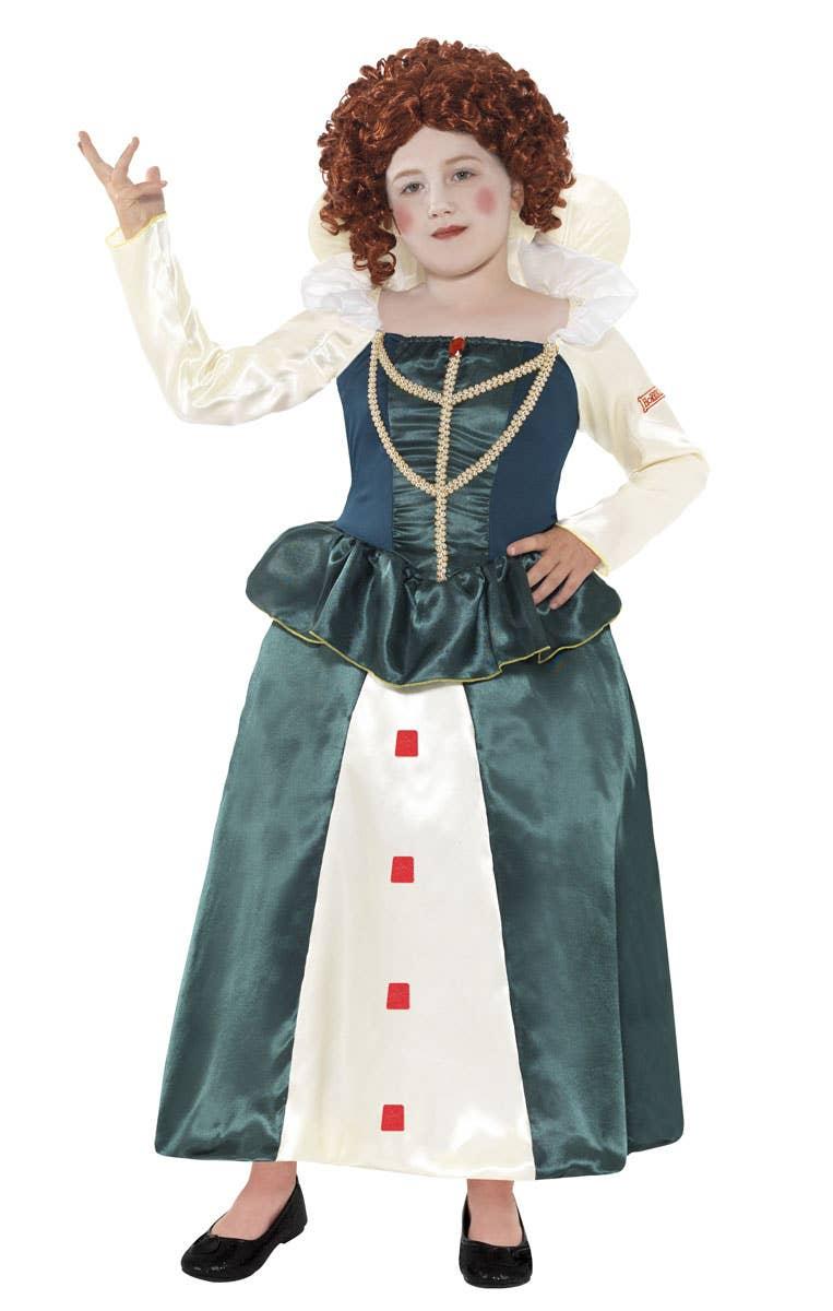 Girls Queen Elizabeth 1 Horrible Histories Fancy Dress Costume