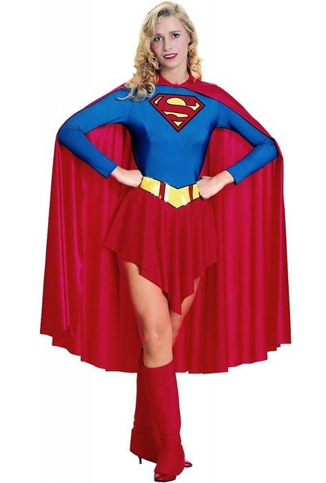 Women's Supergirl Fancy Dress Costume