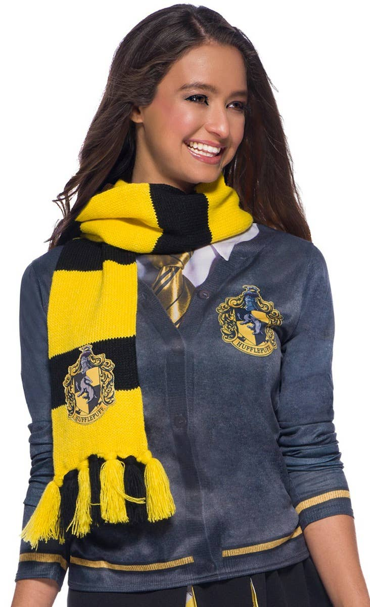 Hufflepuff Scarf Harry Potter Book Week Costume Accessory