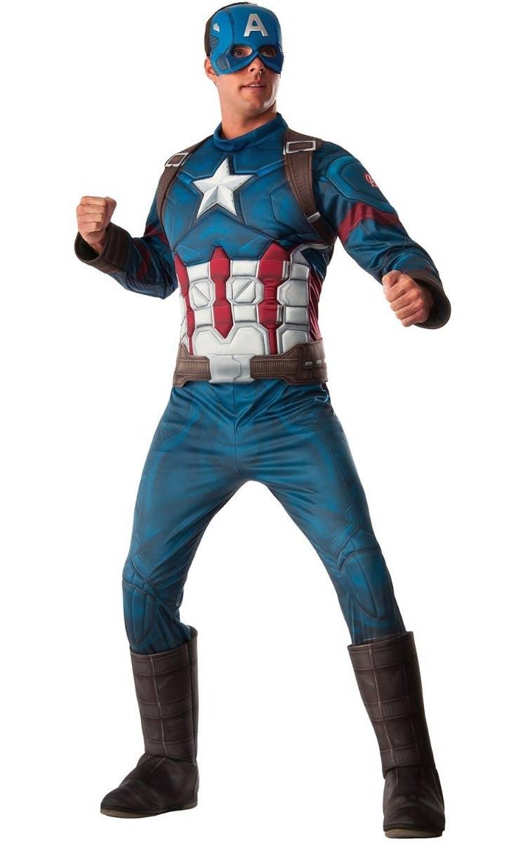 Men's Captain America Fancy Dress Costume