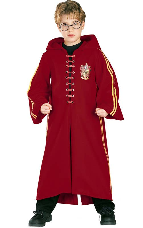 Kids Red Harry Potter Quidditch Costume Robe