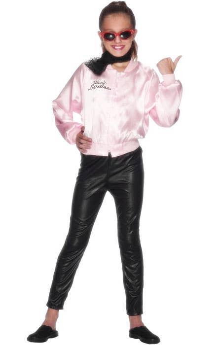 Girls Pink Ladies Grease Movie Fancy Dress Costume