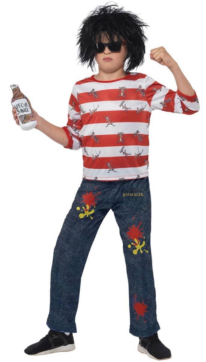 Boys David Walliams Ratburger Fancy Dress Costume
