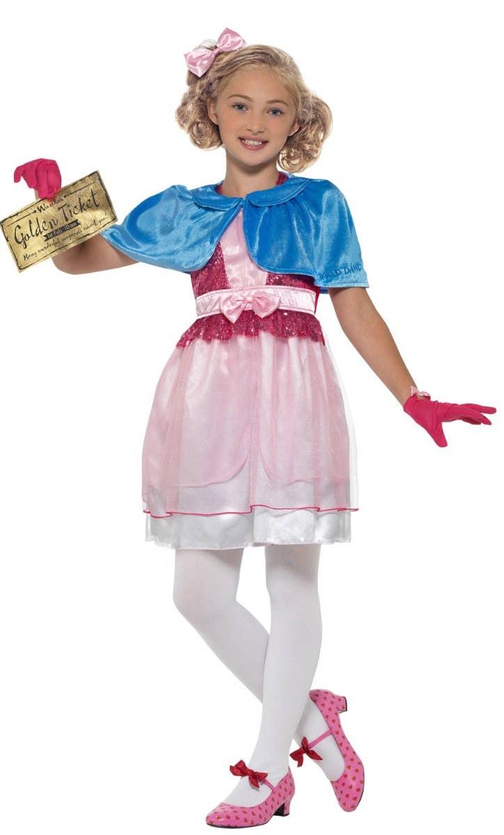 Girls Veruca Salt Willy Wonka Fancy Dress Costume