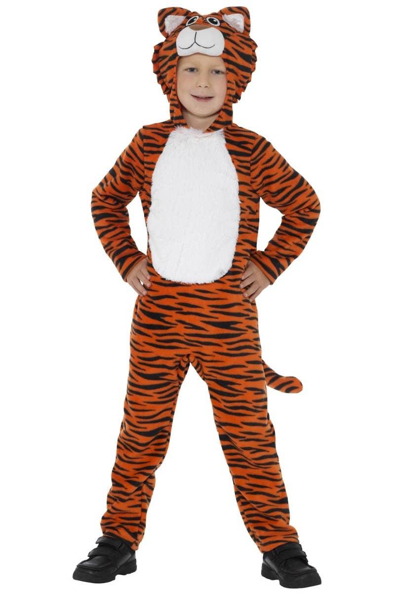 Kids Striped Tiger Fancy Dress Animal Costume