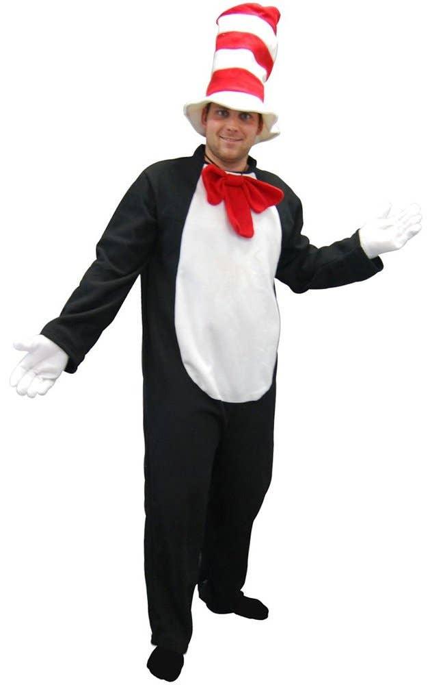 Men's Cat in the Hat Fancy Dress Costume