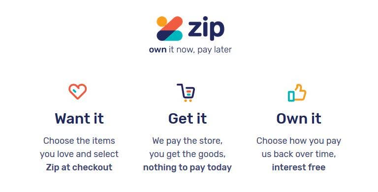 Zip Pay Interest Free Payments Information